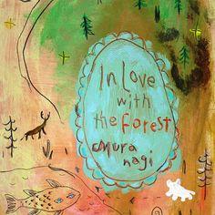 【muranagi】さんのInstagramをピンしています。 《#ムラナギ作品 No.1002 森の話 2014 FSM (15.8cmx22.7cm) そっと歩いて行くのも美しいことだと、僕らは森から学びました。 #art #artist #artwork #painting #illustration #drawing #acrylic #paint #woods #nature #dream #moon #forest #bird #creature #river #絵画 #森 #生き物 #月 #鳥》