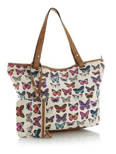 Linda Butterfly Canvas Bag