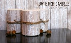 faux birch candles - winner of the Dollar Store Crafts holiday decor contest