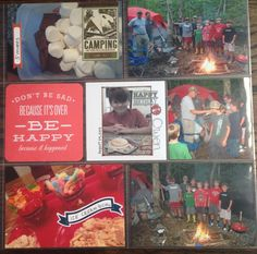 Camp out scrapbook layout