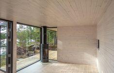 Sauna Kirkkonummella Saunas, Cottage, Windows, Interior, Room, House, Furniture, Home Decor, Space