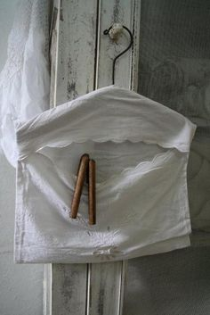 Hanger bag made with linen bath towel or pillowcase