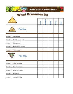 Girl Scout Brownies Badge Chart