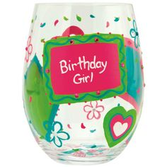 Lolita Birthday Girl Stemless Wine Glass