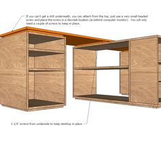 ana white build a eco modular office desktop made with purebond plywood free and ana white build office