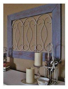 Pottery Barn's Blue Gate Wall Art.or maybe a diy with pallet wood and dollar store wire fencing? so easy to make ; Pottery Barn Look, Pottery Barn Inspired, Pallet Barn, Barn Wood, Asian Home Decor, Diy Home Decor, Decor Crafts, Diy Wall Art, Diy Art