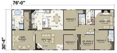 Floor Plans: New Image Deluxe 3277 - Manufactured and Modular Homes