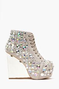 Dina Wedge Boot - Jeweled