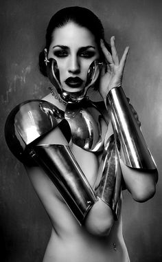 http://www.pinterest.com/joliesarts ∗  ♕Simply Divine #couture ~ avant garde ~ 'Not Just a Girl' by Rebeca Saray