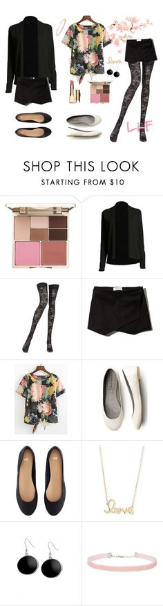 """Boy on the Fringe"" by li-f ❤ liked on Polyvore featuring Stila, Pierre Mantoux, Abercrombie & Fitch, H&M, Sydney Evan, Karen Kane, Miss Selfridge and Clarins"