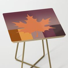 Fall Colour Side Table by vanid Patterned Furniture, Round Table Top, Baltic Birch, Print Design, Colour, Fall, Prints, Home Decor, Color