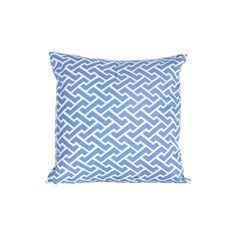 Blue Fretwork Pillow ($32) ❤ liked on Polyvore featuring home, home decor, throw pillows, blue home decor, blue home accessories, blue toss pillows, blue accent pillows en blue throw pillows