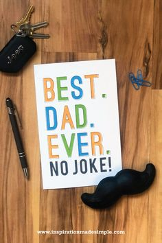 Best Dad Every Printable Card