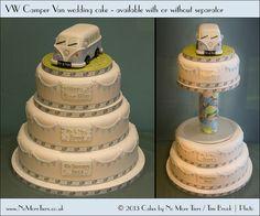 VW camper van wedding cake by Cakes by No More Tiers (York), via Flickr #kombilove #kombiweddings