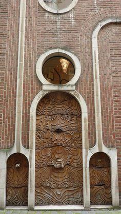Ghent, Belgium Love the doors ~ woodwork Cool Doors, The Doors, Unique Doors, Entrance Doors, Doorway, Windows And Doors, Knobs And Knockers, Door Knobs, Door Handles