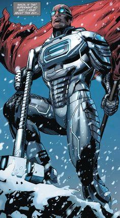 Steel (John Henry Irons), also known as the Man of Iron (DC Comics) Arte Dc Comics, Marvel Comics, Marvel Dc, Comic Book Characters, Comic Book Heroes, Comic Character, Comic Books Art, Comic Art, Marvel Girls