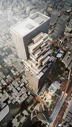 German architect Ole Scheeren of Office for Metropolitan Architecture has designed a skyscraper for Bangkok in Thailand.