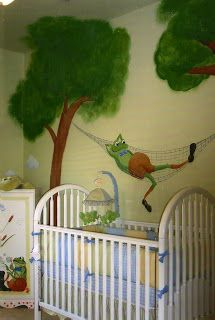 Ashley Williams: Frog Mural in Nursery. Daphne