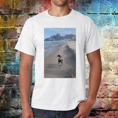 Rio Tshirt brazil tee dalmatian dog shirt beach shirt