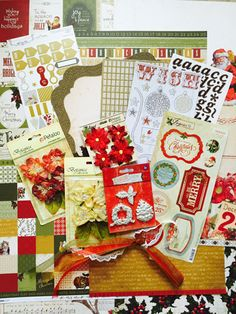 with colors: My Creative Scrapbook December 2014 Kaisercraft Alle layouts van Yuko Tanaka!