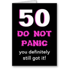 Funny 50th Birthday Cards, Photo Card Templates, Invitations & More