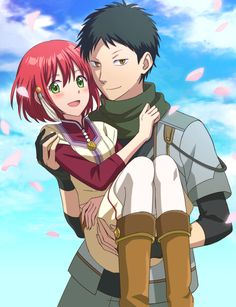 Akagami no Shirayukihime / Snow White with the red hair anime and manga || Obi and Shirayuki <3 this is realllly good fanart