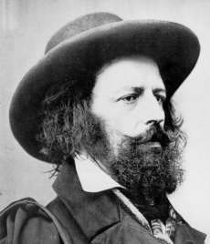Alfred Lord Tennyson 1809 - 1892 Poet Laureate of Great Britain and Ireland. Remains one of the most popular British poets.