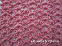 Easy Shells This pretty lacy stitch is very easy, but it looks quite lovely. It's perfect for beginner crocheters.