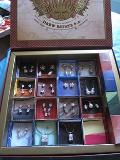 Freeform Friday Cigar box displays Jewelry Inspiration Making