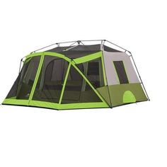Ozark Trail 9-Person Instant Cabin Tent Camping Outdoors Family with Bonus Screen Room Green