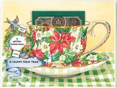 Kimberly Shaw Christmas Tea Card Christmas Wishes