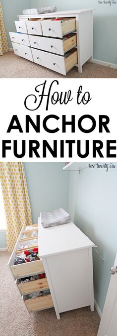 How to anchor furniture! Life-saving information to keep children safe!
