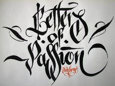 """Letters of Passion"" calligraphy"