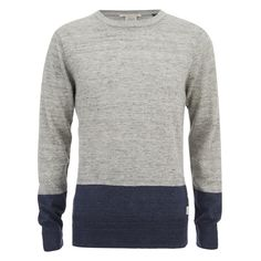 Scotch & Soda Men's Two Tone Knit Jumper (195 BRL) ❤ liked on Polyvore featuring men's fashion, men's clothing, men's sweaters, men, men's sweater, menswear, grey, mens chunky sweater, mens grey sweater and mens sweaters