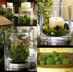 Flor de Lisboa: Moss balls decoration