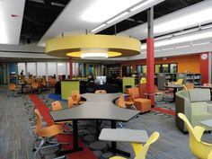 Moveable furniture for a truly flexible space @ Chicago Tribune: Remodeled media center creates hub for technology at Hadley
