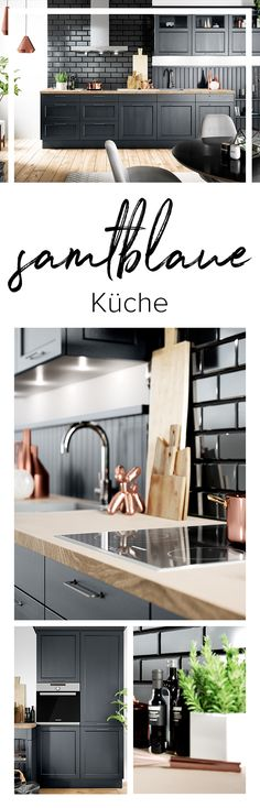 53 Cool Pull Out Kitchen Drawers And Shelves Landhaus Küche - dunkelblaue kche