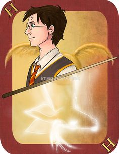 Harry Potter Playing Card by imaginativeink