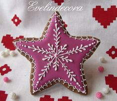 biscotti al cacao Evelindecora Snowflake Cookies, Star Cookies, Iced Cookies, Cupcake Cookies, Cupcakes, Christmas Biscuits, Christmas Tree Cookies, Biscotti Cookies, Cookie Gifts