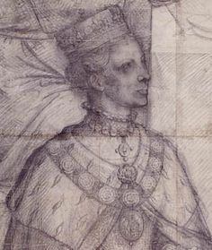 A sketch from life of Mary I for a stained glass window