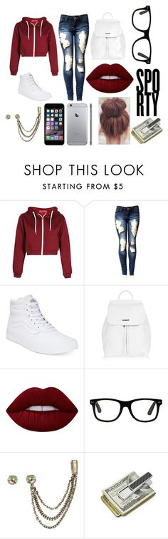 """""""....."""" by nosaj14 ❤ liked on Polyvore featuring Boohoo, Vans, Topshop, Lime Crime, Bita Pourtavoosi and M-Clip"""