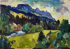 LINER Carl Walter View of Alpstein with Ebenalp and Öhrli Paintings, Auction, Idea Paint, Stones, Paint, Painting Art, Painting, Drawings, Pictures