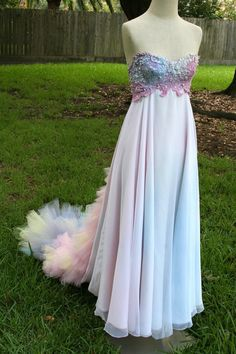 I don't know why I like this. I think I like it for someone else, just to look at, but not for me.   Dream Bohemian Ethereal Fairy Fantasy Strapless by DreamBohemian, $650.00