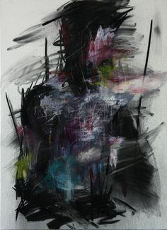 "KwangHo Shin; Oil, 2013, Painting ""[25] untitled oil & charcoal on canvas 72.5 x 50 2013"