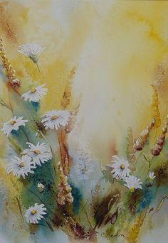 Artwork >> Chantal Jodin >> daisies gilded