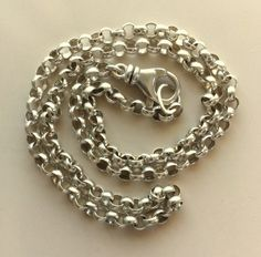 Vintage Unisex Sterling Silver Rollo Style Chain 20 Inches, 19.25g  - Gorgeous Clasp by MAGICALUNIVERSE on Etsy
