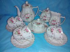 Jogo de porcelana para chá da marca Pozzani - museu Fragmentos do Tempo