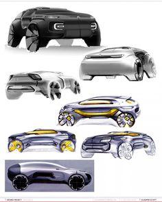 Citroen SUV Concept Design Sketches by Vladimir Schitt