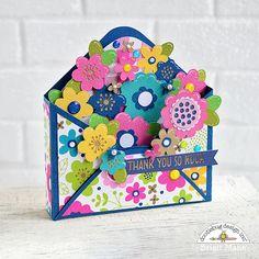 "Brigit's Scraps ""Where Scraps Become Treasures"": Envelope Box Card - Doodlebug Design Team Project Envelope Box, Envelope Punch Board, Envelope Templates, Karten Diy, Cross Stitch Bookmarks, Floral Letters, Exploding Boxes, Folded Cards, Travelers Notebook"