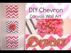 DIY Chevron Canvas Wall Art. Great canvas idea
